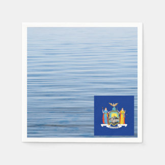 New Yorker Flag Floating on water Standard Cocktail Napkin