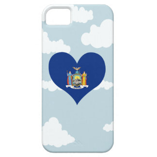 New Yorker Flag on a cloudy background iPhone 5 Covers