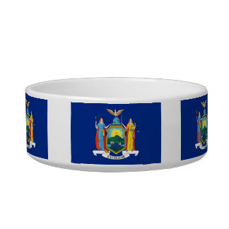 New Yorker Flag Pet Water Bowl