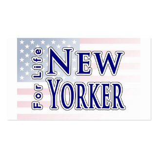 New Yorker For Life Double-Sided Standard Business Cards (Pack Of 100)