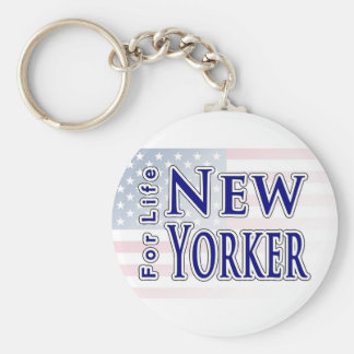 New Yorker For Life Keychain