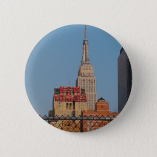 New Yorker Pinback Button
