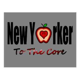 New Yorker To The Core With Sliced Big Apple Postcard