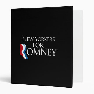 New Yorkers for Romney -.png 3 Ring Binders