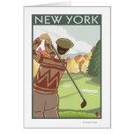 New YorkGolfing Scene Greeting Cards