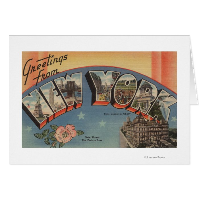New YorkLarge Letter ScenesNew York State Card