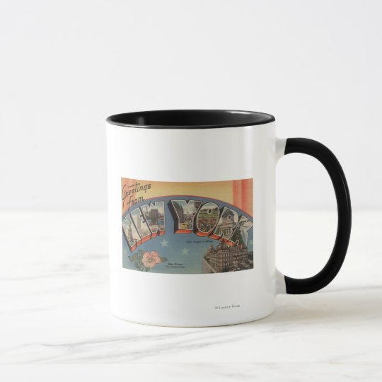 New YorkLarge Letter ScenesNew York State Mug
