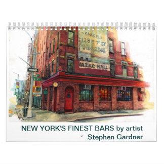 New York's finest bars calendar.