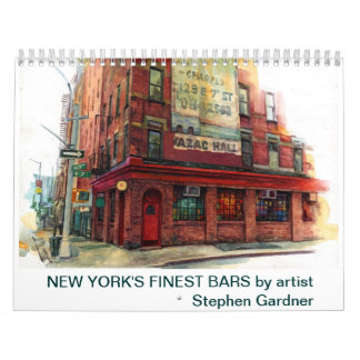 New York's finest bars calendar. Calendar