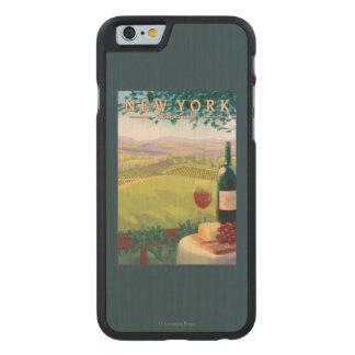 New YorkWine Country Scene Carved® Maple iPhone 6 Slim Case