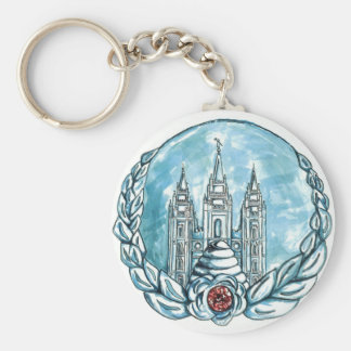 new young womens medallion key-chain basic round button keychain
