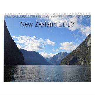 New Zealand 2013 Wall Calendar