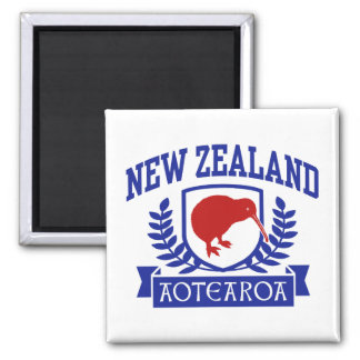 New Zealand 2 Inch Square Magnet