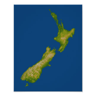 New Zealand 4 Poster