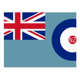 New Zealand Air Force, New Zealand flag Postcard