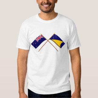 New Zealand and Tokelau Crossed Flags Shirt