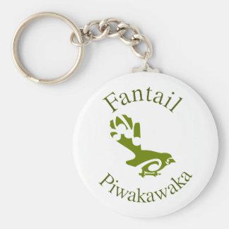 New Zealand Aotearoa Fantail Basic Round Button Keychain