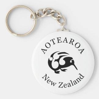 New Zealand Aotearoa KIWI Basic Round Button Keychain