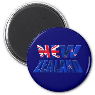 New Zealand Aotearoa Kiwi flag logo Magnet