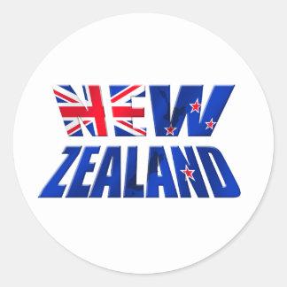 New Zealand Aotearoa Kiwi flag logo Round Sticker