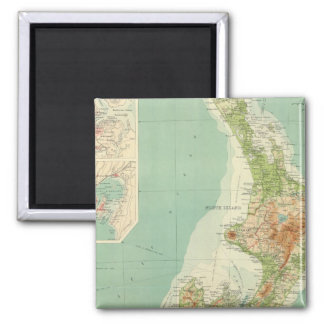 New Zealand Atlas Map 2 Inch Square Magnet