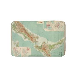 New Zealand Atlas Map Bathroom Mat