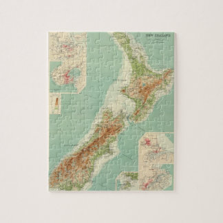New Zealand Atlas Map Jigsaw Puzzle