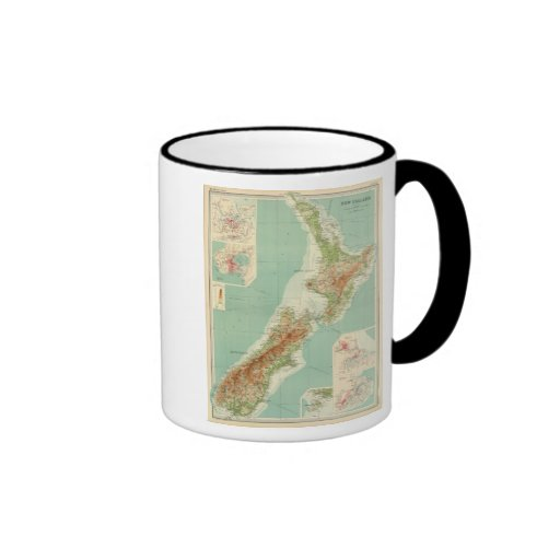 New Zealand Atlas Map Ringer Mug