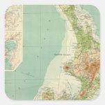 New Zealand Atlas Map Square Sticker