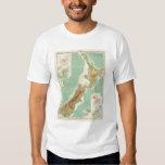 New Zealand Atlas Map T-shirt
