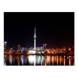 New Zealand: Auckland at Night Postcard