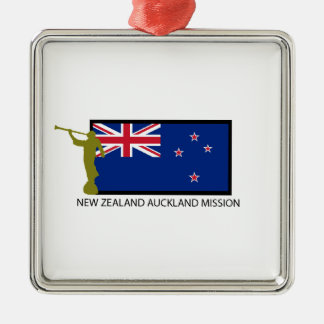 NEW ZEALAND AUCKLAND MISSION LDS CTR SQUARE METAL CHRISTMAS ORNAMENT