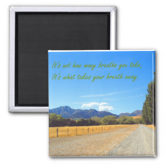 New Zealand Backroads 2 Inch Square Magnet