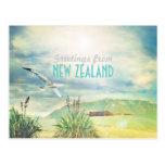 New Zealand beach&mountain Postcard