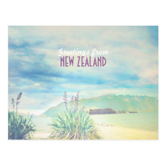 New Zealand beach&mountain Postcard