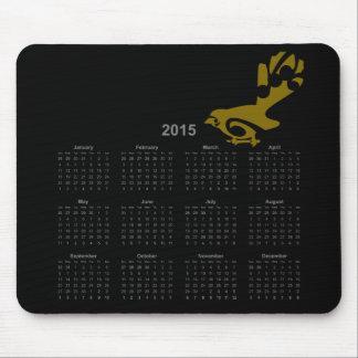 New Zealand bird 2015 calendar mousepad