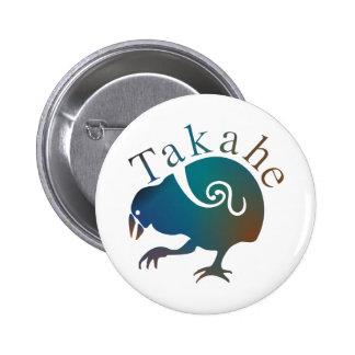 New Zealand Bird TAKAHE 2 Inch Round Button