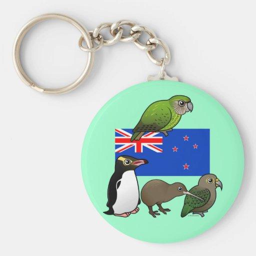 New Zealand Birdorables Basic Round Button Keychain