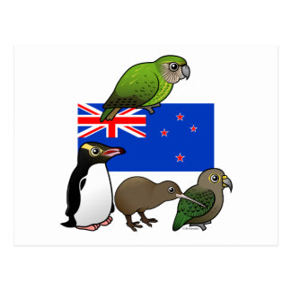 New Zealand Birdorables Postcard
