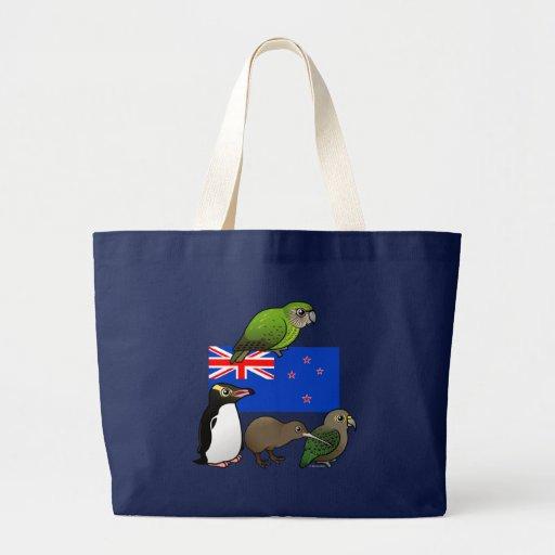 New Zealand Birdorables Tote Bags