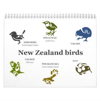 New Zealand birds Calendar