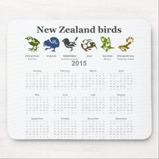 New Zealand birds calendar 2015 Mousepads