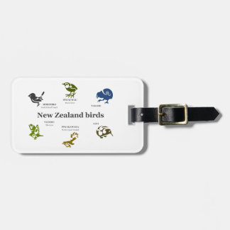 New Zealand Birds luggage tag