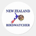 New Zealand Birdwatcher Classic Round Sticker