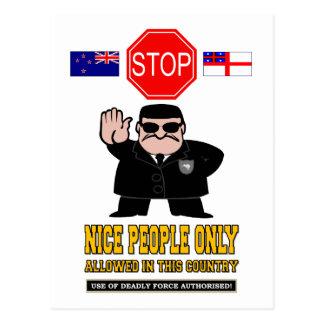 NEW ZEALAND BORDER CONTROL POSTCARD