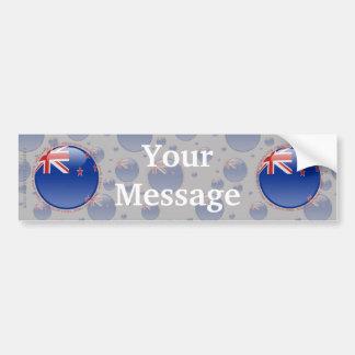 New Zealand Bubble Flag Car Bumper Sticker