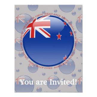 New Zealand Bubble Flag Card