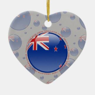 New Zealand Bubble Flag Ceramic Ornament