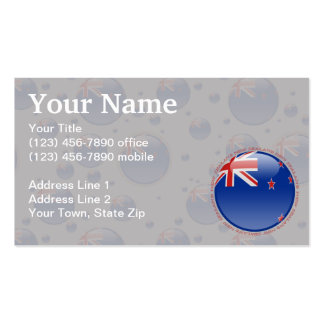 New Zealand Bubble Flag Double-Sided Standard Business Cards (Pack Of 100)