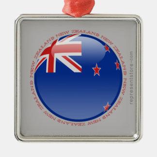 New Zealand Bubble Flag Metal Ornament